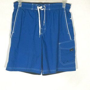 Speedo Blue White Swim Swimming Trunks Shorts